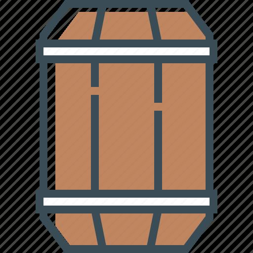 barrel, barrel of beer, beer, brown, outline icon