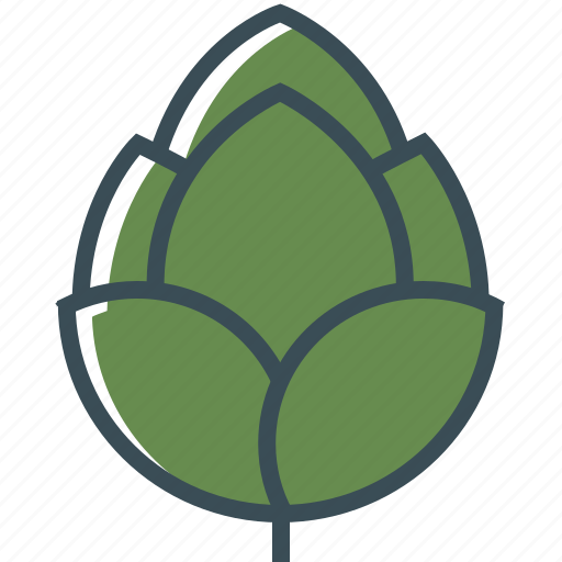beer, green, hop, outline icon