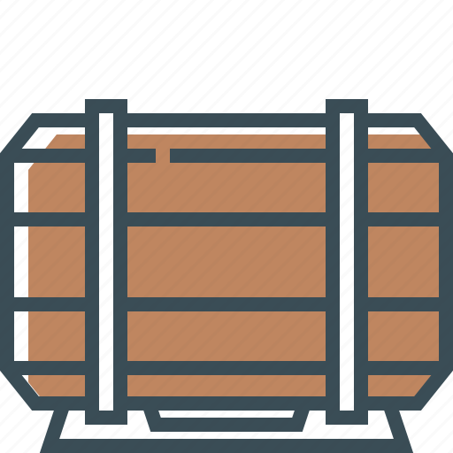 barrel, beer, beer barrel, brown, outline icon