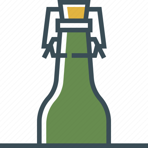 beer, beer bottle, cap, outline icon