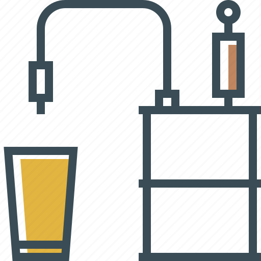 beer, beer keg, drink, glass, outline icon