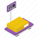 balance scale, delivery weighing, weighing machine, weight machine, weight scale icon