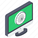 chronograph, chronometer, computer clock, online clock, online timer, system clock, timekeeping device icon