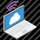 cloud computing, cloud connection, cloud technology, internet connection, wifi signal icon