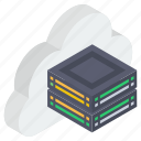 cloud computing, cloud server, cloud storage, cloud technology, data server icon