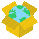 global delivery, global package, global parcel, logistics delivery, worldwide delivery icon