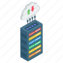cloud hosting, cloud server, cloud storage, data downloading, data server, data uploading icon