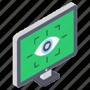 eye authentication, eye recognition, eye scanner, iris recognition, iris scanning icon