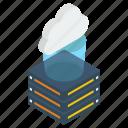 cloud storage, cloud technology, cloud computing, cloud server, data server icon