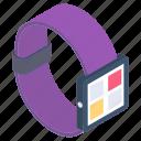 modern technology, smart band, smart bracelet, smartwatch, wrist watch icon