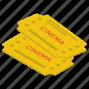cinema coupons, cinema pass, cinema tickets, cinema tokens, cinema vouchers icon