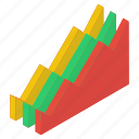 business graph, business growth, data analytics, growth chart, mountain chart, mountain graph icon