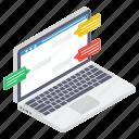 internet communication, online chat, online communication, online conversation, online discussion icon
