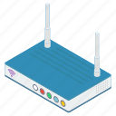 modem, wifi router, broadband modem, network router, internet device, wireless router icon