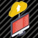 cloud technology, cloud uploading, cloud storage, cloud computing, cloud hosting, data uploading icon