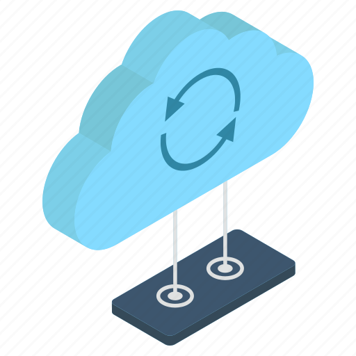 cloud computing, cloud storage, cloud synchronization, cloud technology, data backup icon