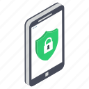 mobile protection, mobile safety, mobile security, phone protection, phone security icon