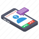 incoming call, mobile call, mobile ringing, phone call, unknown call icon