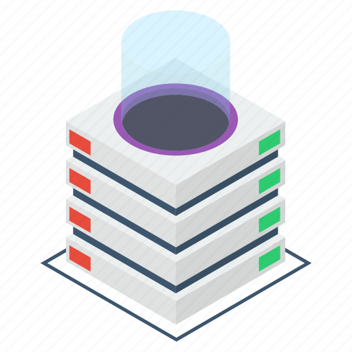 data center, data hosting, data server, data storage, dataserver rack, network icon
