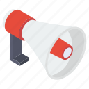 announcement, bullhorn, digital marketing, loud hailer, megaphone