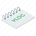 blog video, videgraphy, video blogging, video production, web blogging icon