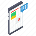 mobile communication, mobile conversation, phone chat, sms, video communication, video message icon