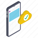 mobile protection, mobile security, phone security, smartphone security icon