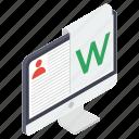 digital profile, online cv, online profile, online resume, web profile icon