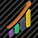 bar chart, bar graph, business graph, business growth, data analytics, growth chart icon
