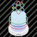 atomic model, atomic orbitals, atomic structure, orbit, science symbol icon