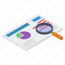 data search, document analysis, document exploration, document review, report analysis icon