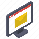digital mail, electronic mail, email, online correspondence, webmail icon