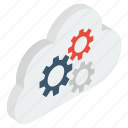 cloud computing, cloud configuration, cloud maintenance, cloud preferences, cloud setting icon