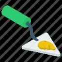 construction tool, digging shovel, gardening equipment, shovel, spading tool, trowel icon