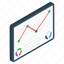 business infographic, business statistics, data analytics, mobile analytics, trend chart icon