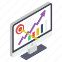 business growth, business infographic, business statistics, candlestick chart, data analytics icon