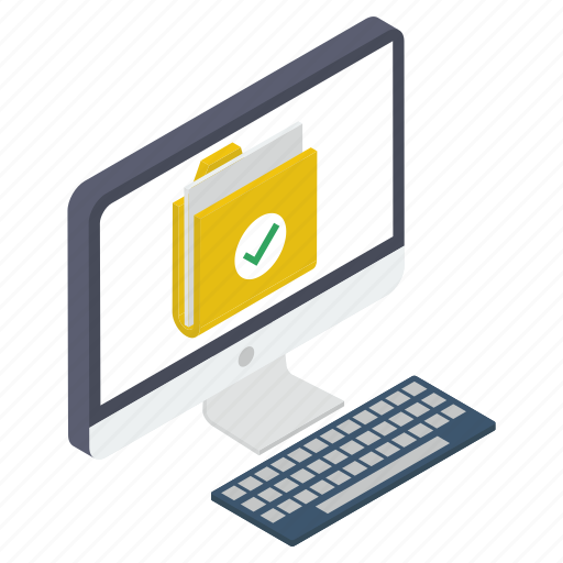 approved document, tested document, verified archives, verified file, verified folder icon