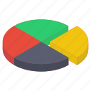 business graph, business growth, data analytics, pie chart, pie graph icon