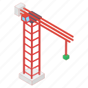 construction crane, construction site, crane machine, industrial crane, tower crane icon