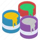 paint brush, paint bucket, paint can, paint container, paint equipment, painting tools icon