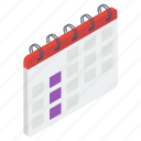 almanac, calendar, chronology, daybook, reminder, yearbook icon