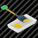 construction tool, digging shovel, gardening equipment, shovel, spade, trowel icon