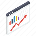 business growth, business infographic, business statistics, data analytics, web analytics icon