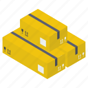 cardboard boxes, delivery box, logistic delivery, packages, packets, parcels icon