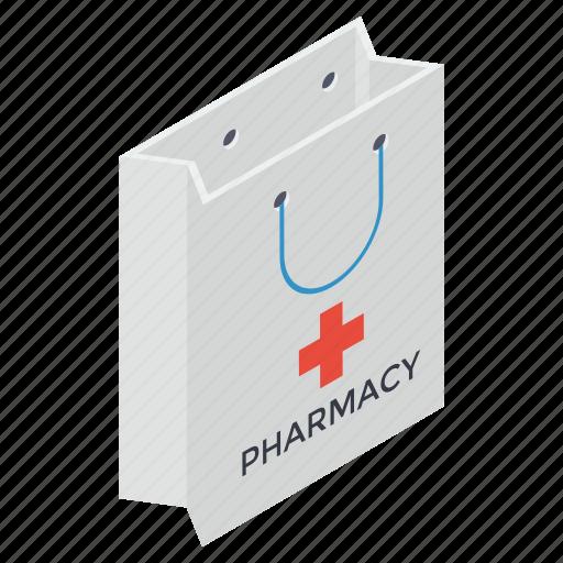 buy medicine, hand bag, purchasing medicine, shopping bag, tote bag icon