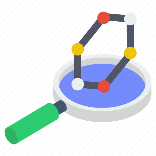 chemical research, molecule analysis, molecule examin, search molecule, structure analysis icon