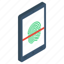 authentication, biometric access, biometric identification, biometry, fingerprint scanning, thumb scanning, thumb verification icon