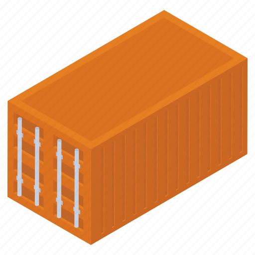 cargo container, container, freight container, logistics, shipping container icon