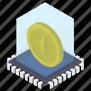 bitcoin box, cryptocurrency box, ethereum moneybox, money box, money savings icon