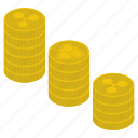 capital, coins, coins pile, coins stack, currency, money stack, ripple coins icon
